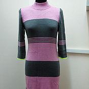 Одежда ручной работы. Ярмарка Мастеров - ручная работа Платье Серое+розовое. Handmade.