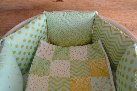 Для новорожденных, ручной работы. Ярмарка Мастеров - ручная работа. Купить Бортики в кроватку. Handmade. Бортики, стеганное одеяло