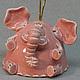 Колокольчики ручной работы. Ярмарка Мастеров - ручная работа. Купить Слон колокольчик. Handmade. Керамика, слон, серый, колокольчик, глина