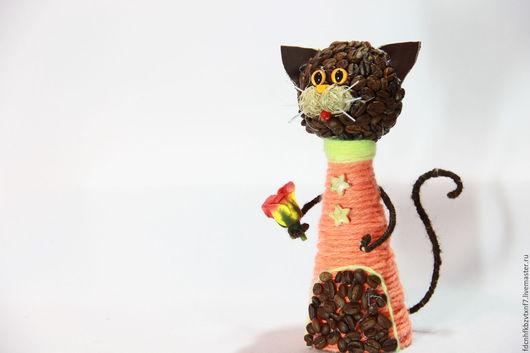 Персональные подарки ручной работы. Ярмарка Мастеров - ручная работа. Купить Кофейные коты (для интерьера). Handmade. Кот в подарок