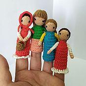 Кукольный театр ручной работы. Ярмарка Мастеров - ручная работа Пальчиковые куколки.. Handmade.