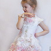 Работы для детей, handmade. Livemaster - original item Felted dress for girls