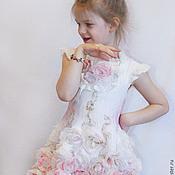 """Работы для детей, ручной работы. Ярмарка Мастеров - ручная работа Валяное платье для девочки """"Розовый винтаж"""". Handmade."""