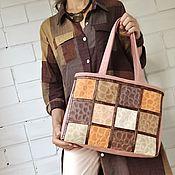 Сумки и аксессуары handmade. Livemaster - original item Tote, Women`s bag, large bag, for documents, for laptop 182. Handmade.