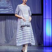 """Одежда ручной работы. Ярмарка Мастеров - ручная работа платье серое в полоску """"белое на сером"""". Handmade."""
