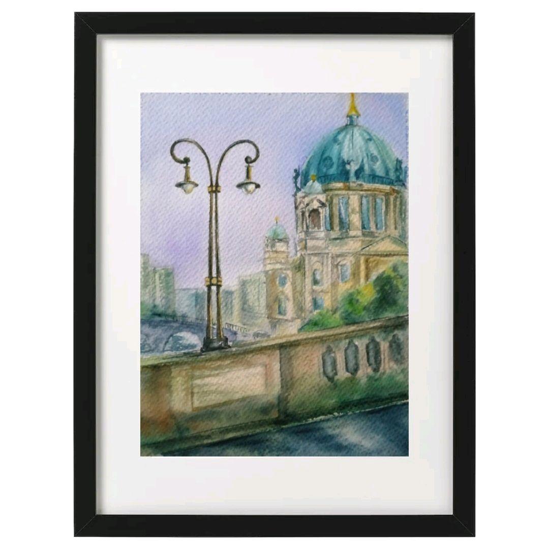 Городские зарисовки: Берлин, Картины, Москва,  Фото №1