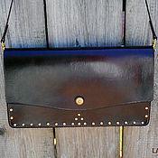 Clutches handmade. Livemaster - original item Leather clutch Vanda. Handmade.