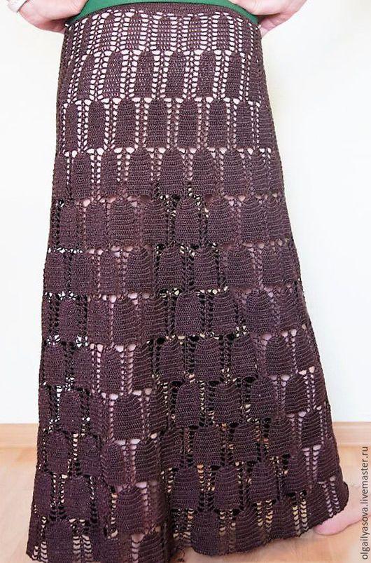 Юбки ручной работы. Ярмарка Мастеров - ручная работа. Купить Летняя юбка. Handmade. Бордовый, длинная юбка, ручная работа