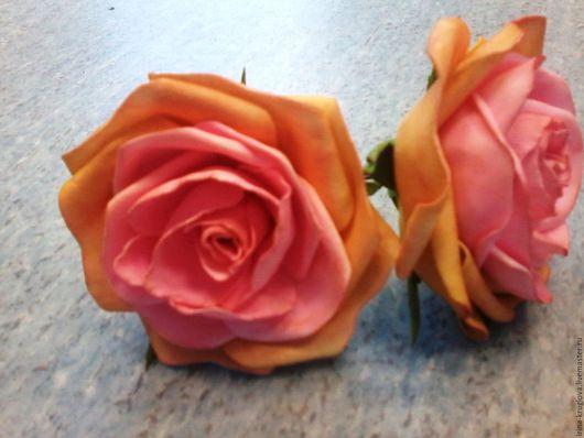 """Заколки ручной работы. Ярмарка Мастеров - ручная работа. Купить Шпильки для волос из фоамирана """"Роза"""". Handmade. Розовый, украшение в прическу"""