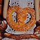 Куклы Тильды ручной работы. Тильда,,Булочница,,. Елена (elenadollworld). Ярмарка Мастеров. Колпак, булочка, кондитер, хлопок, атласная лента
