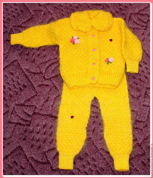 Одежда для девочек, ручной работы. Ярмарка Мастеров - ручная работа. Купить вязаный костюм для девочки. Handmade. Костюм для девочки