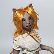Куклы и игрушки ручной работы. Ярмарка Мастеров - ручная работа ЗАКАЗ ОТКРЫТ! Миниатюрная шарнирная кукла Китти (новый тираж). Handmade.