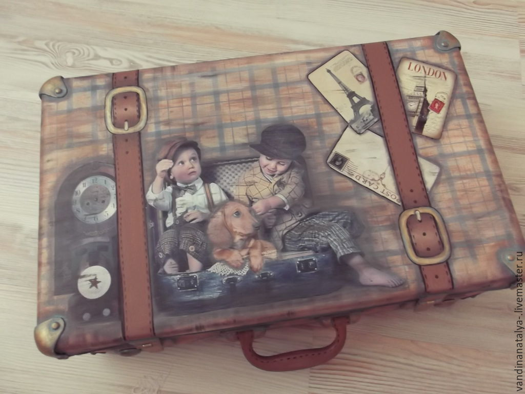 Suitcases handmade. Livemaster - handmade. Buy The case for the young gentleman.Dogs, gift for boy