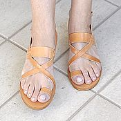 """Обувь ручной работы. Ярмарка Мастеров - ручная работа Кожаные сандалии """"классические"""" с пальчиком. Handmade."""