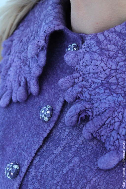 Пиджаки, жакеты ручной работы. Ярмарка Мастеров - ручная работа. Купить Жакет валяный Особый случай. Handmade. Сиреневый