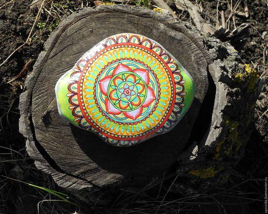 Экстерьер и дача ручной работы. Ярмарка Мастеров - ручная работа. Купить Яркий камень для альпийской горки. Handmade. Зеленый, камень