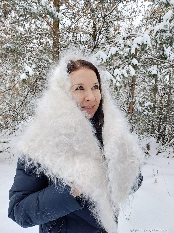 scarves: Down scarf ' Down gold', Kerchiefs, Voronezh,  Фото №1