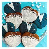 Сувениры и подарки handmade. Livemaster - original item Gingerbread Wedding.Gingerbread bride and groom. Handmade.