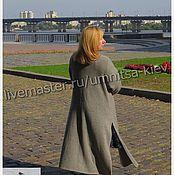 Одежда ручной работы. Ярмарка Мастеров - ручная работа Стильное вязаное пальто и вязаная кофточка из кашемира. Handmade.