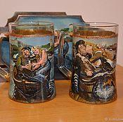 Посуда handmade. Livemaster - original item A set of beer mugs