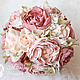 Свадебные цветы ручной работы. Свадебный букет в стиле Шебби-Шик. Марина Бруня. Интернет-магазин Ярмарка Мастеров.