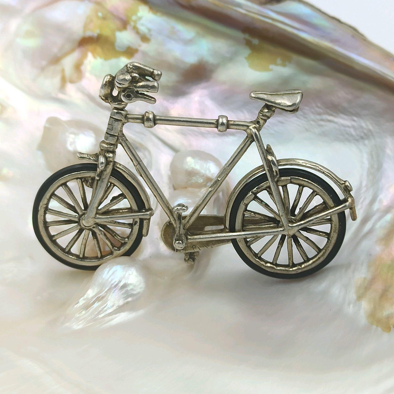 Винтаж: Миниатюра серебро 800 Миниатюрка Велосипед Италия/Ареццо – купить на Ярмарке Мастеров – NUYGWRU | Предметы интерьера винтажные, Москва