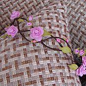 """Украшения ручной работы. Ярмарка Мастеров - ручная работа Венок """"Дриада"""" - розовые цветы. Handmade."""