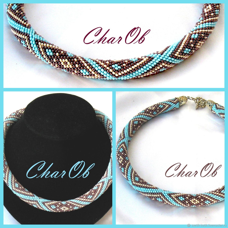 Harness 'Tales of Shaherizada' beaded necklace, Necklace, Kramatorsk,  Фото №1