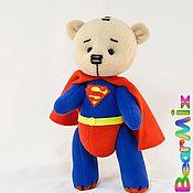 Куклы и игрушки ручной работы. Ярмарка Мастеров - ручная работа Мишка Superman. Handmade.