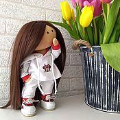 Куклы и игрушки handmade. Livemaster - original item doll interior. Doll games. doll textile. Doll athlete. Handmade.