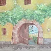Картины ручной работы. Ярмарка Мастеров - ручная работа Картина пастелью Путь к морю / Аccesso al mare. Флорентийский пейзаж.. Handmade.