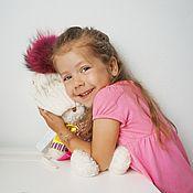 Работы для детей, ручной работы. Ярмарка Мастеров - ручная работа Утепленная шапка для девочки. Handmade.