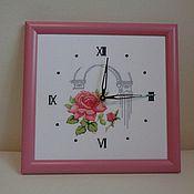 Для дома и интерьера ручной работы. Ярмарка Мастеров - ручная работа Часы античная роза. Handmade.