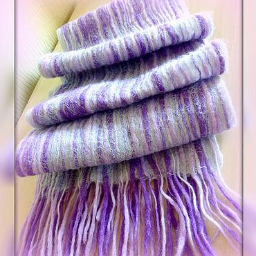 Accessories handmade. Livemaster - original item Scarves: Felted scarf