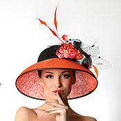 """Аксессуары ручной работы. Ярмарка Мастеров - ручная работа Эксклюзивная шляпа для скачек """"Kiara"""". Handmade."""
