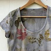 """Одежда ручной работы. Ярмарка Мастеров - ручная работа Футболка """"Где цветы"""" , эко принт. Handmade."""