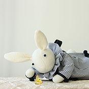Мягкие игрушки ручной работы. Ярмарка Мастеров - ручная работа Флёр. Зайчик. Кролик. Зайка игровой. Handmade.