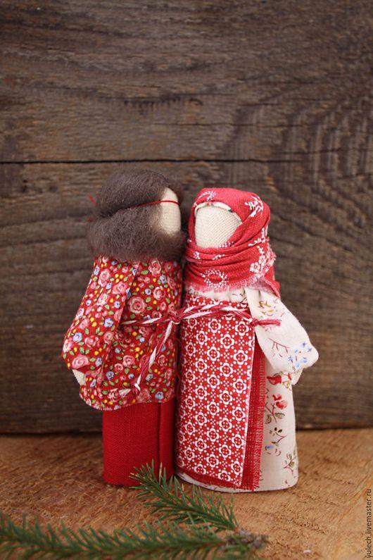 """Народные куклы ручной работы. Ярмарка Мастеров - ручная работа. Купить Народные русские куколки-неразлучники """"Радостные"""". Handmade. Комбинированный"""