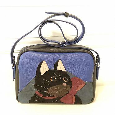 Bags and accessories handmade. Livemaster - original item Leather cross-body bag