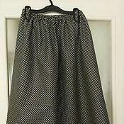 Одежда ручной работы. Ярмарка Мастеров - ручная работа Юбка черная в горошек. Handmade.