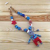 Мягкие игрушки ручной работы. Ярмарка Мастеров - ручная работа Слингобусы Бегемотик - морячок. Handmade.