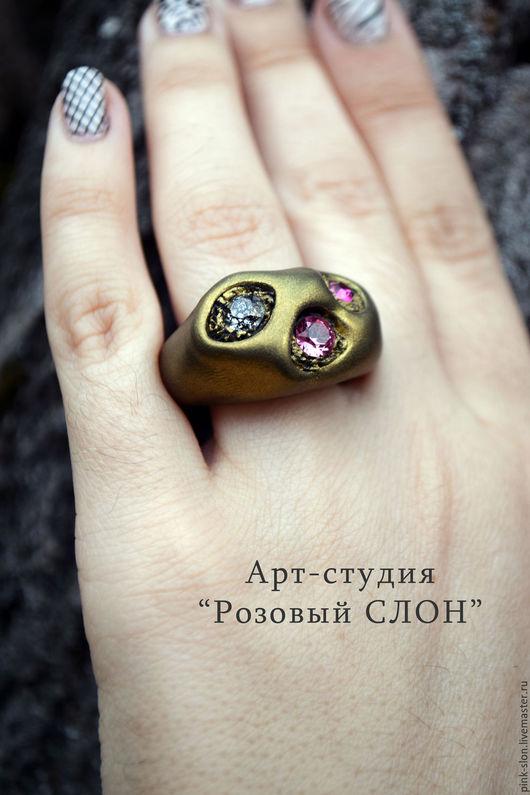 """Кольца ручной работы. Ярмарка Мастеров - ручная работа. Купить Кольцо """"Бронзовый Век"""", кольцо из полимерной глины.. Handmade."""