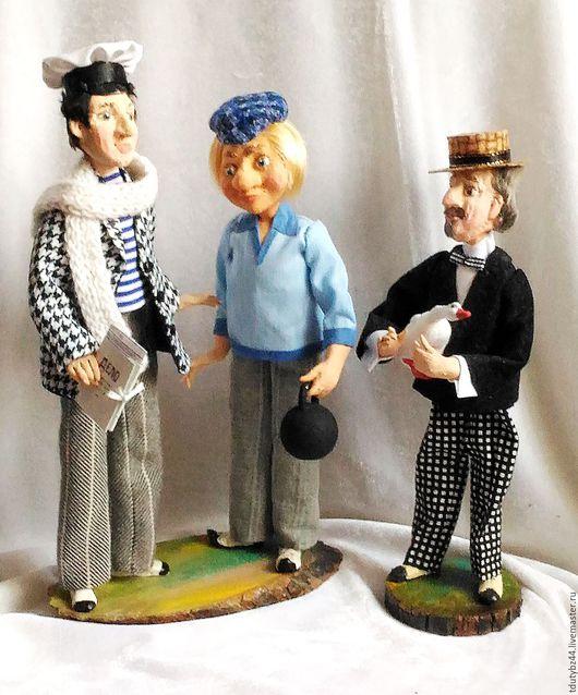 Коллекционные куклы ручной работы. Ярмарка Мастеров - ручная работа. Купить ЗОЛОТОЙ ТЕЛЁНОК композиция авторская кукла. Handmade. Комбинированный
