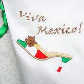 """Подарки к праздникам ручной работы. Ярмарка Мастеров - ручная работа Мешочек с вышивкой для белья """"Туфелька для патриотки"""" (Мексика). Handmade."""