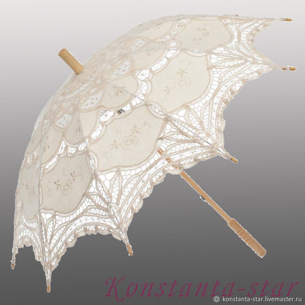 Свадебный зонт кружевной айвори, Зонты, Москва,  Фото №1