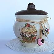 Для дома и интерьера ручной работы. Ярмарка Мастеров - ручная работа горшочек керамика для сладкого десерт с шоколадом. Handmade.