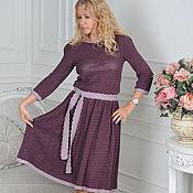 """Одежда ручной работы. Ярмарка Мастеров - ручная работа """"Виктория"""" вязаное крючком платье из шелка. Handmade."""