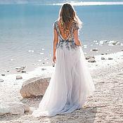 Платья ручной работы. Ярмарка Мастеров - ручная работа Пыльно-серое свадебное платье Afina. Handmade.
