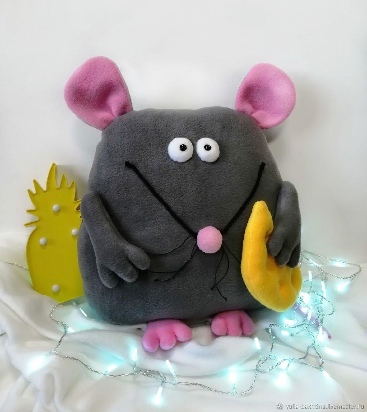 Мышь упитанный (подушка-игрушка), Мягкие игрушки, Новосибирск,  Фото №1