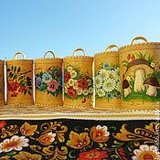 Для дома и интерьера ручной работы. Ярмарка Мастеров - ручная работа Туес расписной. Handmade.